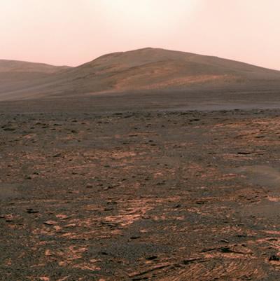Opportunity, 3325. sol (Mars günü) ya da 1 Haziran 2013'de Solander Noktasını görüntülemek için panoramik kamerasını kullandı. (NASA/JPL-Caltech/Cornell Univ./Arizona State Univ.)