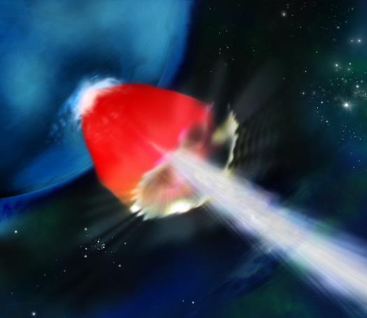 mavi dev yıldız patlama